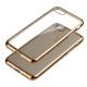 Capa Ultra Gel Slim Iphone 7 (4.7) Transparente / Dourada