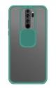 Capa Xiaomi Redmi 9 Hibrida com Proteção Camera Verde Água