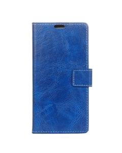 Capa Flip Alcatel 3V Azul Rustico c/ Apoio e Slot Cartões
