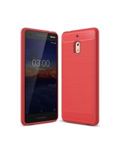 Capa Gel Carbono Nokia 2.1 Vermelho