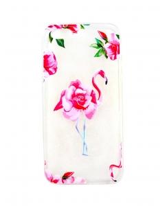 Capa Gel Style Iphone 5 5G 5S Flamingo Rosas