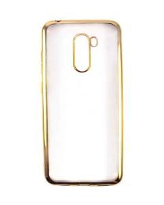 Capa Ultra Slim Gel Xiaomi POCOPHONE F1 Transparente / Dourado