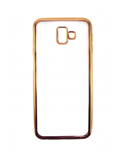 Capa Ultra Slim Gel Samsung Galaxy J6 Plus 2018 Transparente / Dourada