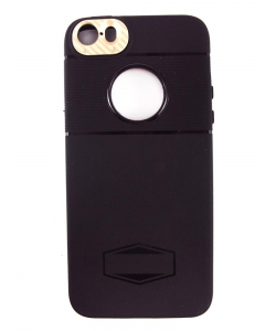Capa Iphone 5 Hard Case IFC Preto Gold c/ Interior Magnético