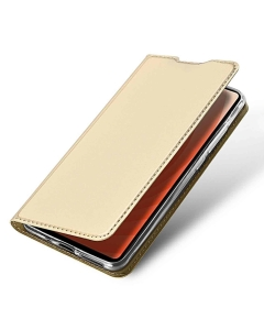 Capa Huawei Mate 20 Flip DX Dourado c/ Apoio
