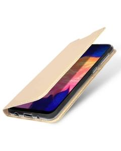 Capa Samsung Galaxy A10 Flip DX Dourado c/ Apoio