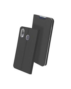 Capa Samsung Galaxy A30 Flip DX Cinza c/ Apoio
