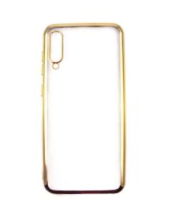 Capa Samsung Galaxy A50 Gel Ultra Slim Transparente / Dourada