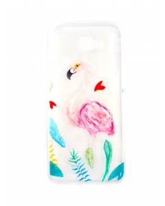 Capa Samsung Galaxy J4 Plus 2018 Gel Style Flamingo