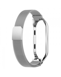 Bracelete Xiaomi Mi Band 4 Metal Prateado