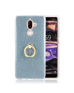 Capa Gel Ring Brilhantes Nokia 7 Plus Azul