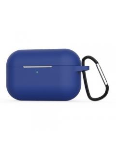 Capa Silicone Airpods Pro Azul marinho com gancho