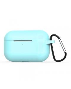 Capa Silicone Airpods Pro Turquesa com gancho