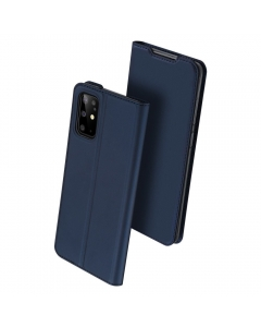 Capa Samsung Galaxy S20 Plus Flip DX Azul c/ Apoio