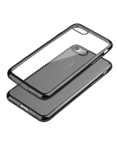 Capa Ultra Slim Gel Iphone 7 Plus (5.5) Transparente / Preto