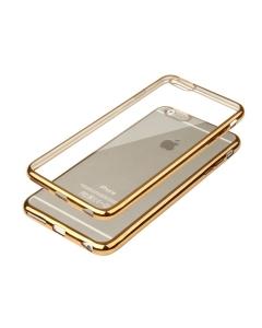 Capa Ultra Slim Gel Iphone 6 6S Plus Transparente / Dourado