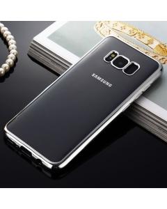 Capa Ultra Slim Gel Samsung S8 Plus Transparente / Prateado