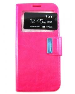 Capa Flip Samsung Galaxy S8 c/ Apoio e Janela Rosa