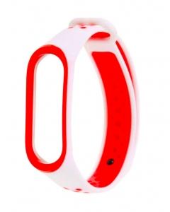 Bracelete Xiaomi Mi Band 3 / 4 Desportiva Branco Vermelho
