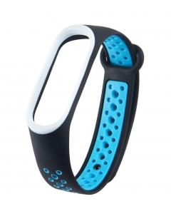 Bracelete Xiaomi Mi Band 3 / 4 Desportiva Preto Azul