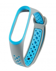 Bracelete Xiaomi Mi Band 3 / 4 Desportiva Cinza Azul