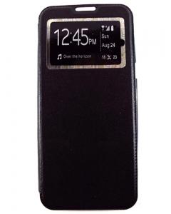 Capa Flip Alta Qualidade Samsung Galaxy S8 Plus c/ Apoio e Janela Preta