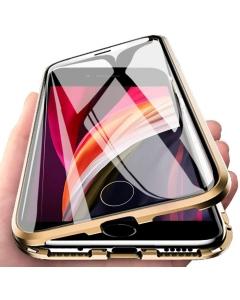 Capa 360 Magnética Completa Iphone SE 2020 Dourado
