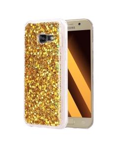 Capa Gel Glitter Samsung Galaxy A3 2017 A320F Dourada