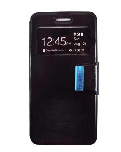 Capa Flip Huawei P10 Lite Preta c/ Apoio e Janela