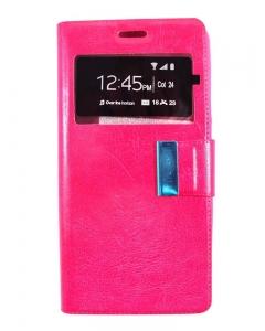 Capa Flip Huawei P10 Lite Rosa c/ Apoio e Janela