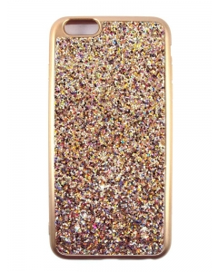 Capa Gel Brilhantes Coloridos Iphone 6 Plus Dourada