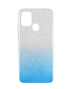 Capa Samsung Galaxy A21s Brilhantes Degradê Prateado Azul