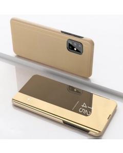 Capa Samsung Galaxy A41 Flip S-View Dourado