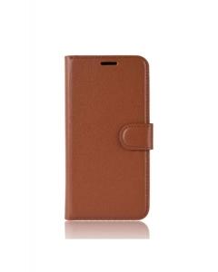 Capa Xiaomi Mi A3 Flip Retro Castanho c/ Slot e Suporte de Cartões