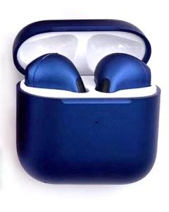Airpods Pro 4 Auriculares Bluetooth sem Fios Azul Marinho