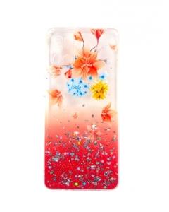 Capa Samsung Galaxy A31 Hibrida Style Florido Vermelho
