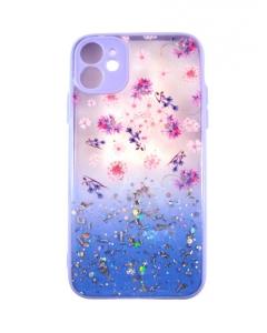 Capa Iphone 11 Hibrida Style Florido Violeta