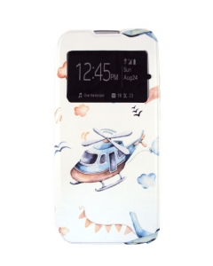 Capa Samsung Galaxy A02s Flip Style Avioes c/ Apoio e Janela