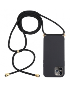 Capa Iphone 12 Silky Preto com Cordão