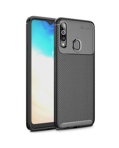 Capa Samsung Galaxy A20s Gel Carbono Elegante Preto