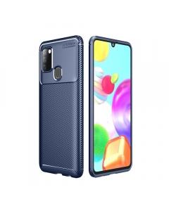 Capa Samsung Galaxy A21s Gel Carbono Elegante Azul