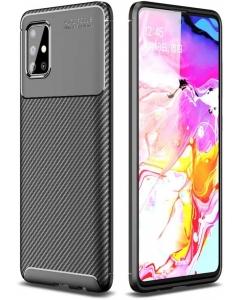 Capa Samsung Galaxy A51 Gel Carbono Elegante Preto