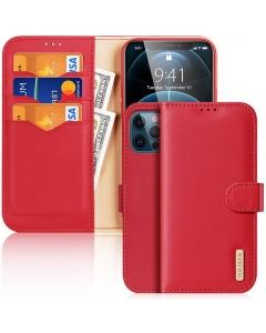 Capa Iphone 12 Flip DX Hivo Vermelho c/ Apoio e Slot Cartões