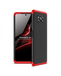 Capa Xiaomi Poco X3 GKK Full 360º Preto Vermelho