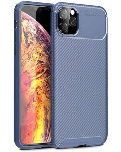 Capa Iphone 12 Pro Gel Carbono Elegante Azul