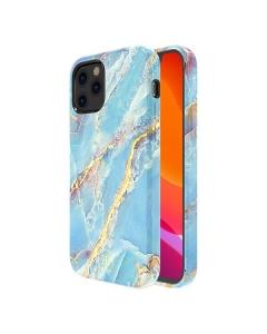 Capa Iphone 12 Pro Kingxbar Marmore Azul