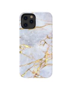 Capa Iphone 12 Kingxbar Marmore Branco