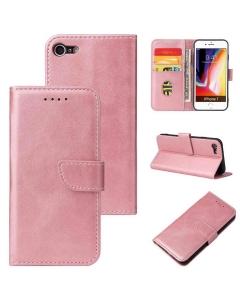 Capa Iphone 8 Flip Elegante Rosa