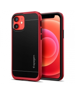 Capa Iphone 12 SPIGEN Neo Hybrid Metal Preto Vermelho