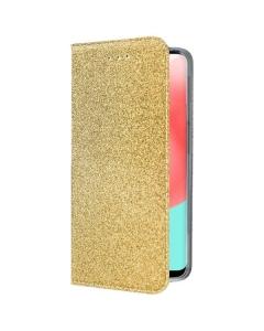 Capa Samsung Galaxy A32 4G Flip Glitter Dourado